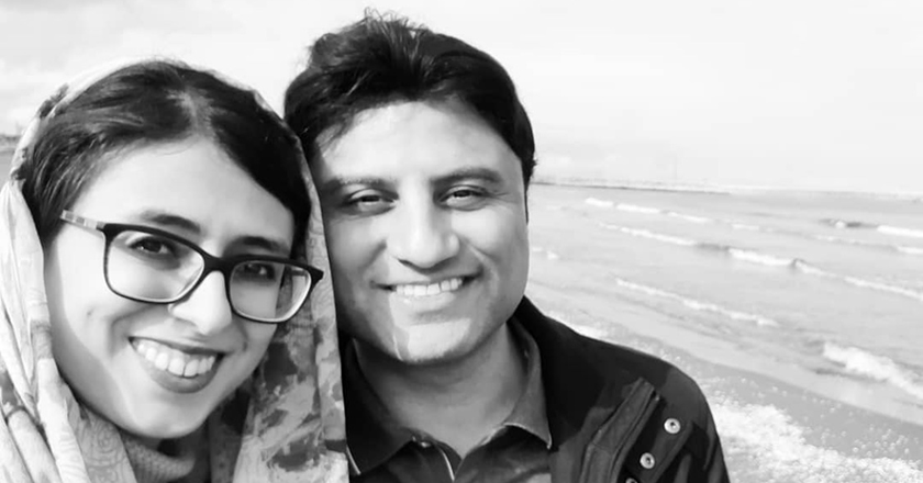 Mehran Abtahi and his wife