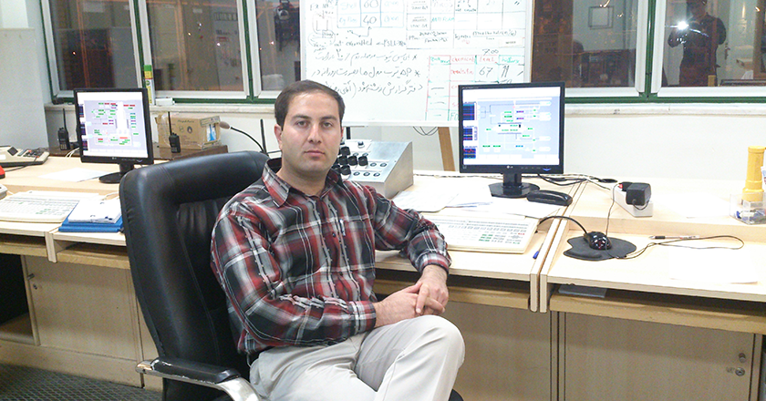 Milad Nahavandi, working
