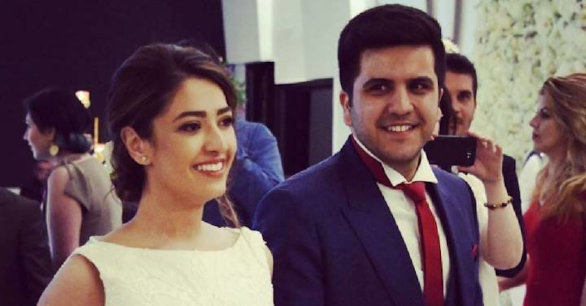 Negar Borghei and Alvand Sadeghi getting married