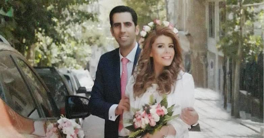 Mohammadhossein Saket and Fatemeh Kazerani getting married